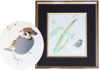 japan,art,frame,seihou takeuchi,bird