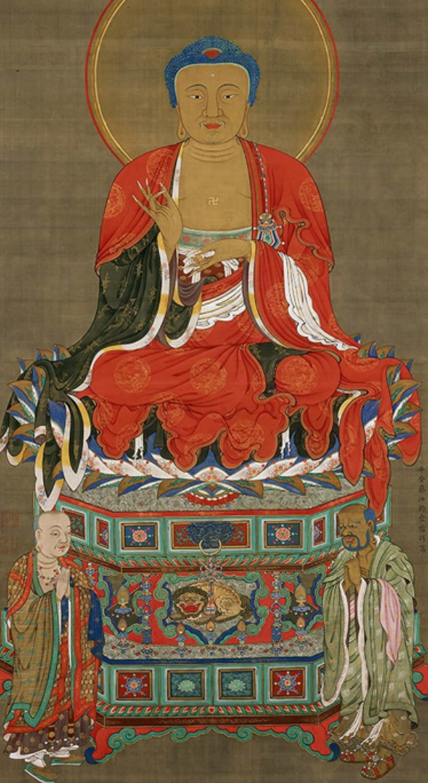 jakuchu,art,japan,museum,Sakyamuni Triad , Sakyamuni
