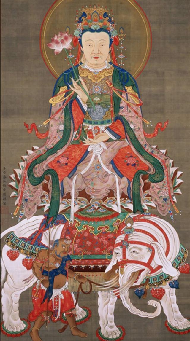 jakuchu,art,japan,museum,Sakyamuni Triad,Samantabhadra