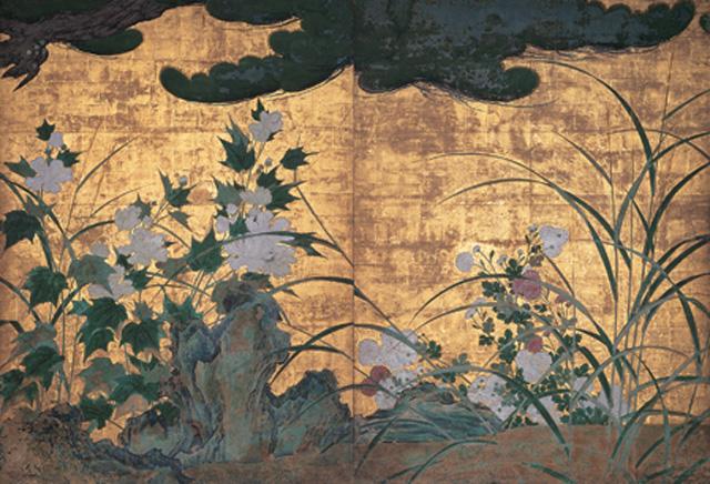japan,art, hasegawatohaku,cherry,chishakuin