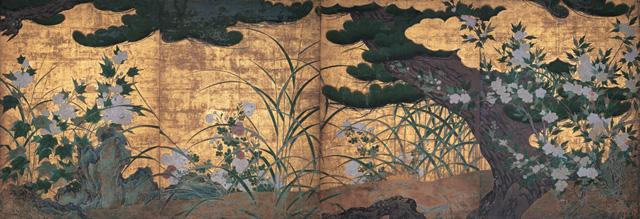 japan,art, hasegawatohaku,pine tree,chishakuin