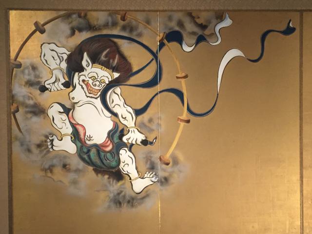 japan, kyoto, kennin-ji.thunder-god