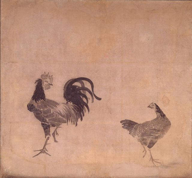 japan, art, ito jakuchu, rooster